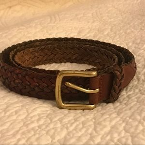 Coach British Tan Braided Leather Belt 42 inches
